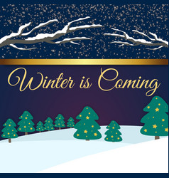Winter is coming purple background image vector
