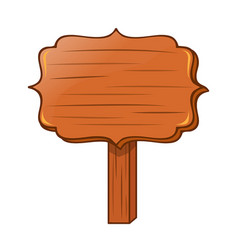 wooden signs isolated vector image