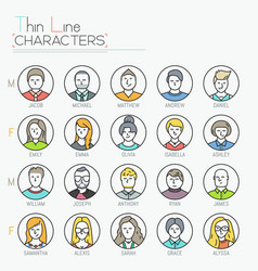 Big collection of male and female characters vector