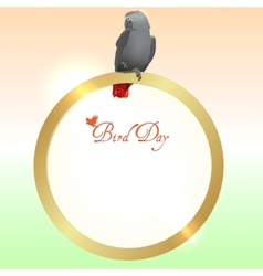 Bird Day background vector image vector image