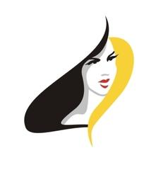Elegant blonde woman vector image