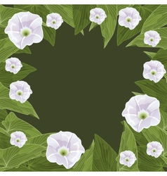 Floral frame in the shape of a circle vector image vector image