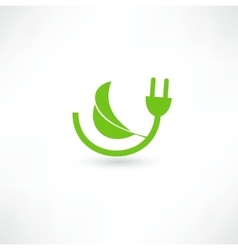 Green energy concept sign vector image