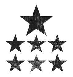 grunge star collection vector image
