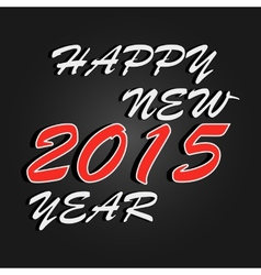 Happy New Year 2015 celebration background vector image vector image