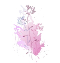 of flowers vector image