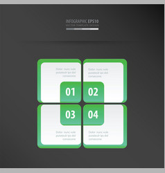 rectangle presentation template neon green vector image vector image