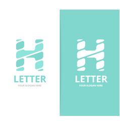 unique letter h logo design template vector image vector image