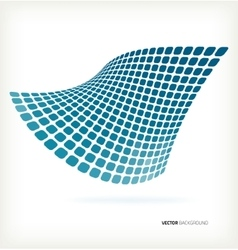 Abstract blue mosaic wave background vector image