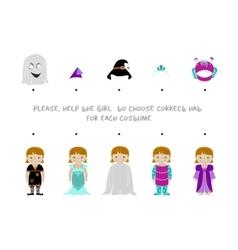 Halloween logic task for kids vector image vector image