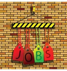 jobs under construction vector image vector image