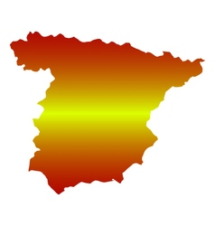 map spain vector image vector image