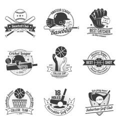 Sport Label Set vector image vector image