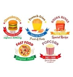 Takeaway meal symbols for fast food design vector image