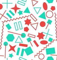 Abstract Colorful Geometric Objects Seamless vector image
