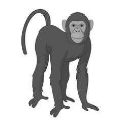 bonobo monkey icon monochrome vector image vector image