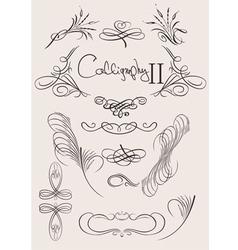 calligraphic design vector image vector image