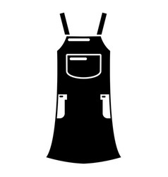 girl dress icon simple black style vector image