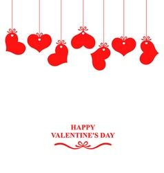 heart hanging vector image vector image