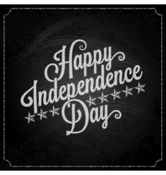 independence day vintage lettering chalk vector image vector image