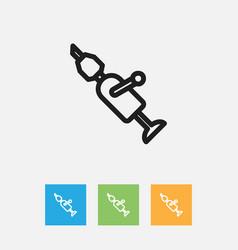 Of equipment symbol on drill vector