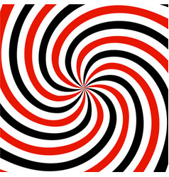 red black and white summer spiral ray pattern vector image vector image