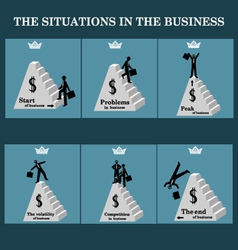 Set Situations in business vector image vector image