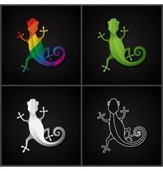 Stylized icon salamander vector image