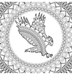Animal design Adult coloring concept white vector image