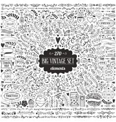 Big set of vintage elements vector