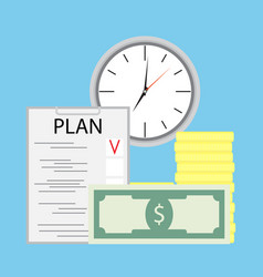 Planning money and time vector