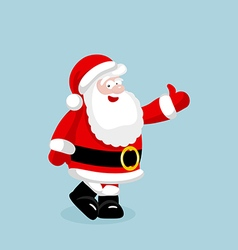Santa Claus showing thumb up vector image