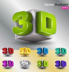 3D set vector image