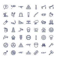 49 danger icons vector