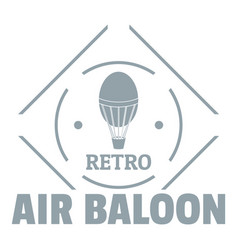 air balloon logo simple gray style vector image