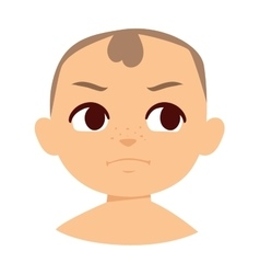 Angry baby vector image