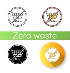 Anti consumerism icon vector