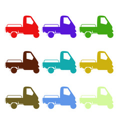Ape car icon in on white background vector