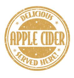Apple cider sign or stamp sign or stamp vector