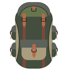 backpack bag icon on white vector image