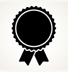 Badge shape on white prize award icon vector
