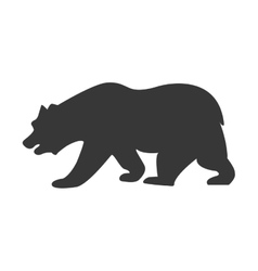 Bear animal silhouette icon graphic vector