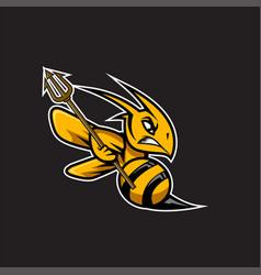 Bee mascot design vector