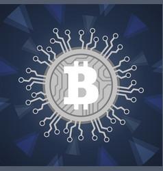 Bitcoins digital currency technology blockchain vector