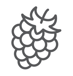 blackberry line icon fruit and vitamin raspberry vector image