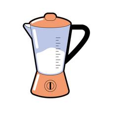 Blender technology kitchen utensil object vector