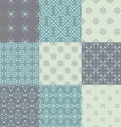 Blue Pattern Set vector