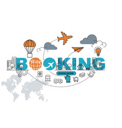 booking banner background design concept vector image