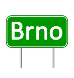 Brno road sign vector image
