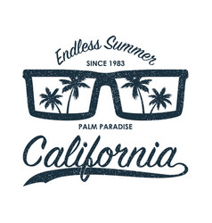 california glasses t-shirt vector image